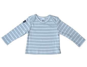 T-shirt Babygrey/ white