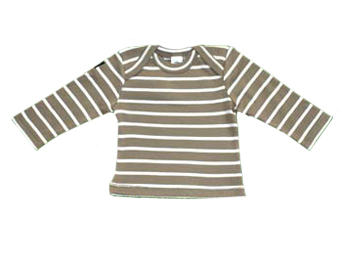 T-shirt taupe / white